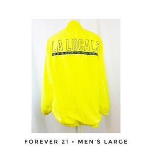Men's Large LA LOCALS Forever 21 Jacket Zip Up